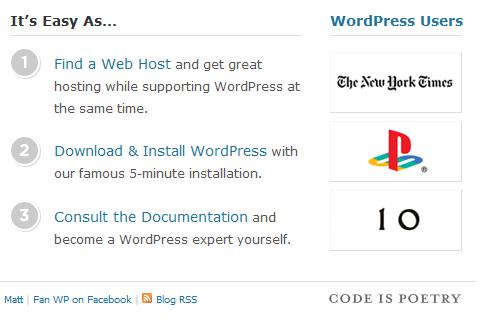 WordPress Code is poetry