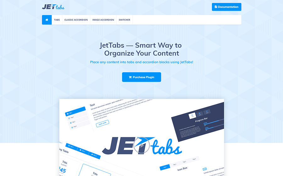 JetTabs - Tabs and Accordions for Elementor Page Builder WordPress Plugin