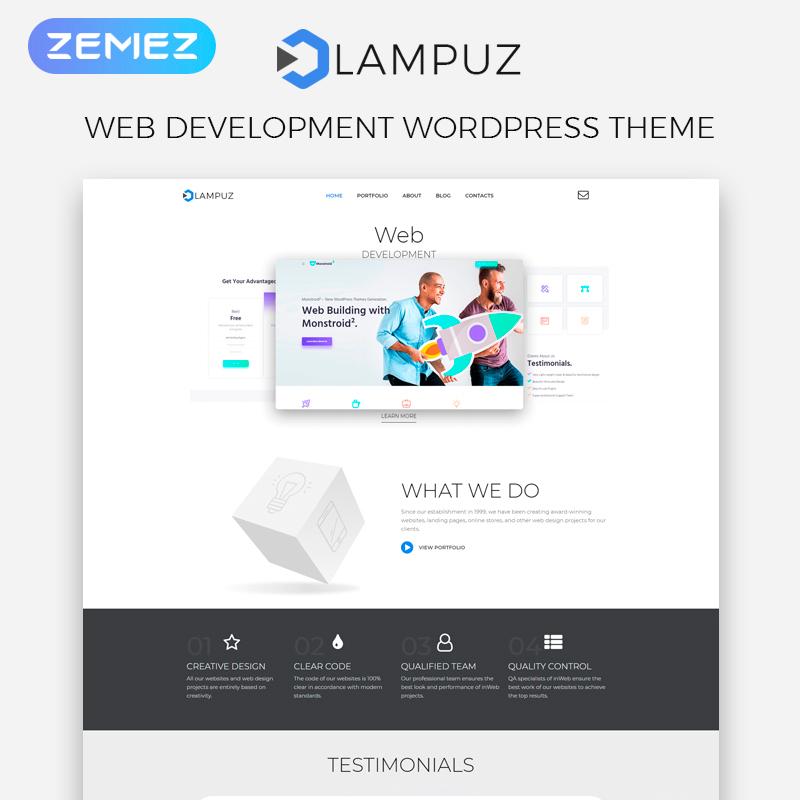 Lampuz - Web Development Multipurpose Animated Elementor WordPress Theme