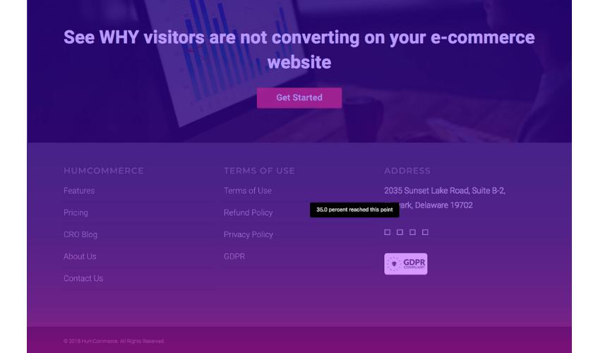 HumCommerce scroll heatmap