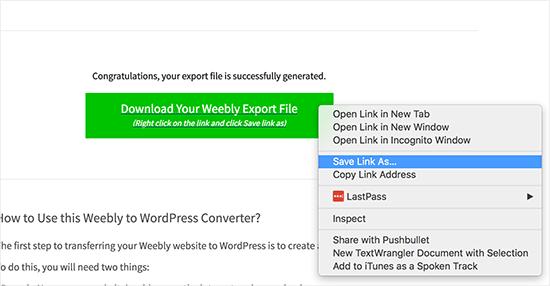 download-export