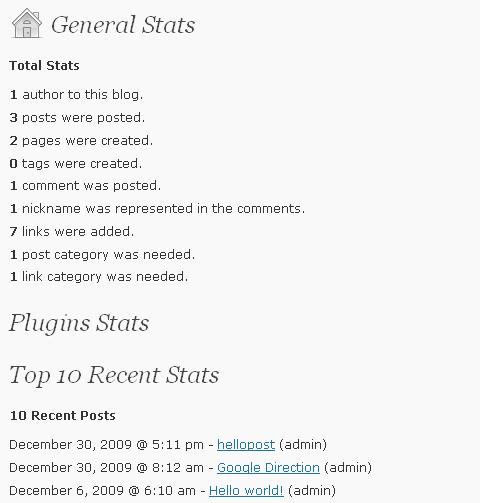 WP-Stats - stats