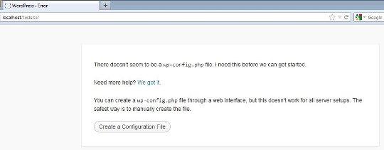 Wordpress config file