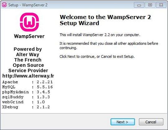 wamp server 2.2