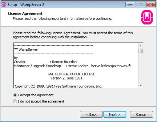 Install WampServer step 2