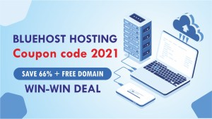 Read more about the article BlueHost Hosting Coupon code 2021: Save 66% + Free Domain Websmartz Deal