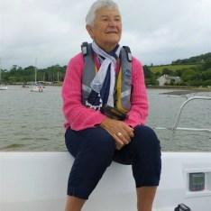 Liz Rowley aboard Rapport by Pat Moss