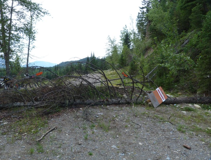 Road Closed due to mud slide