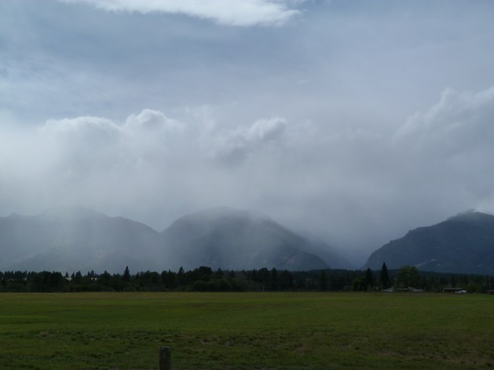 We left Missoula in the first rain since the day after we started