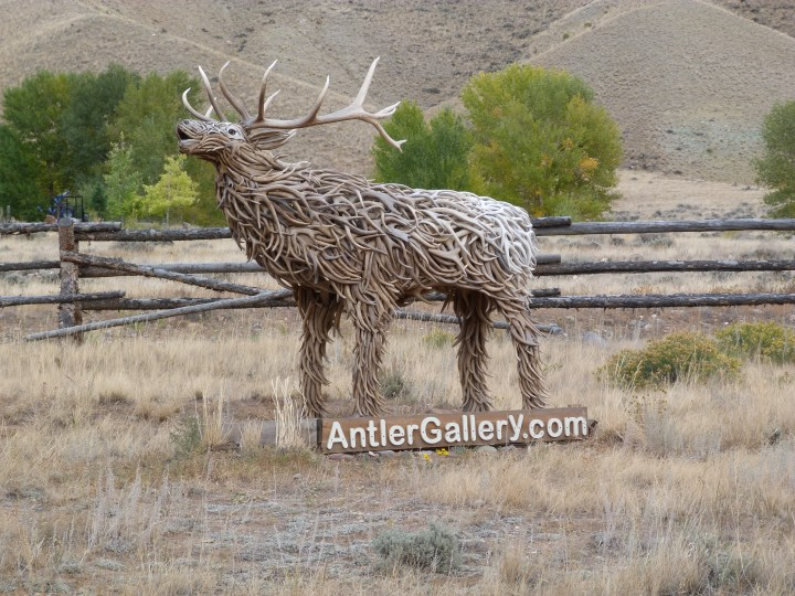 This workshop was more artistic than the others we had passed. He had made some beautiful things from the antlers