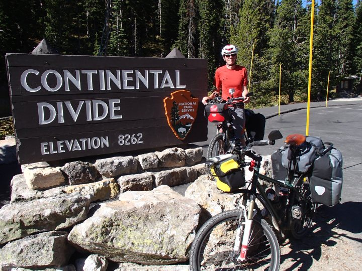 Leaving Yellowstone by the southern exit was a much steaper matter as we had to cross the Continental Divide 3 times. It would have been much easier if we had not had to go down so far between them!