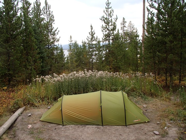 The ground had looked quite solid when we pitched the tent, by the morning it was liquid