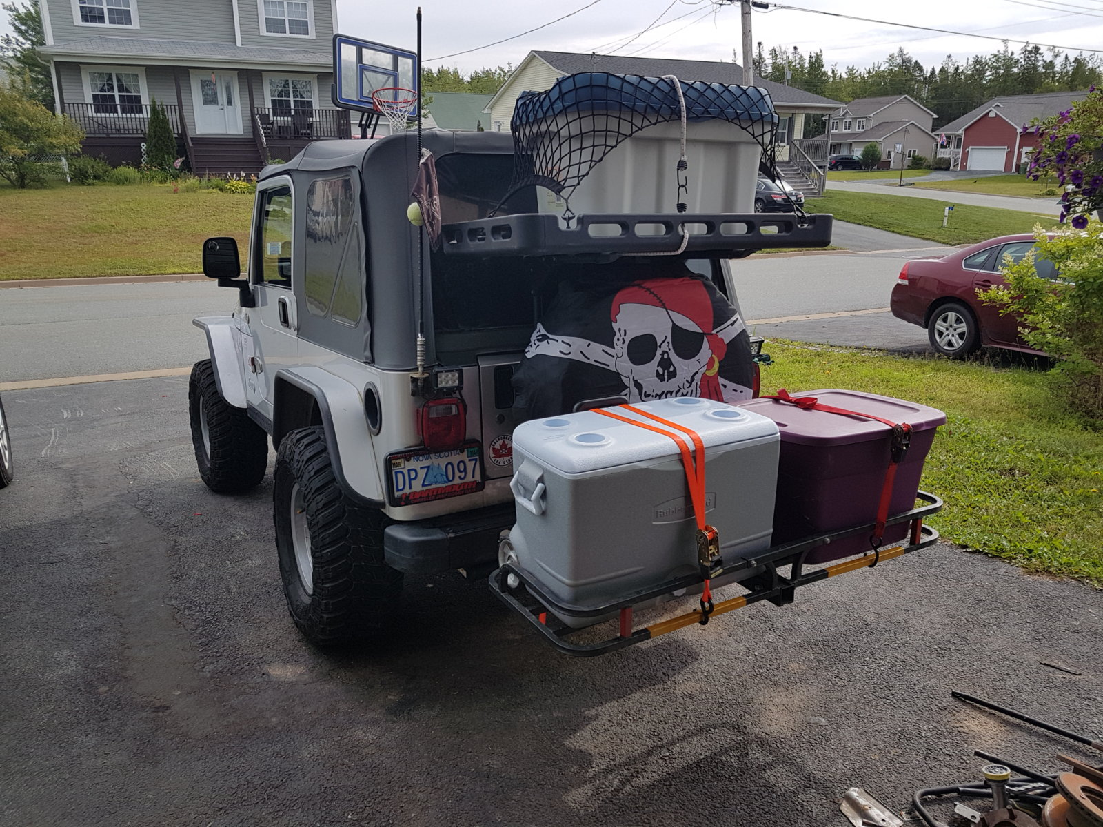hitch mounted cargo carrier jeep