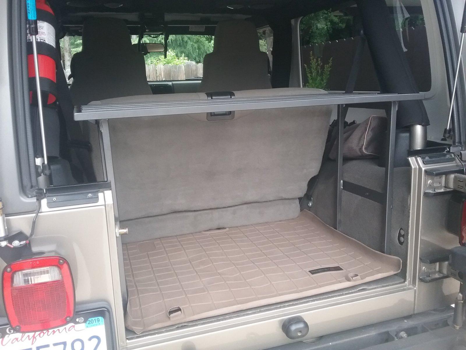 diy interior cargo rack for lj jeep
