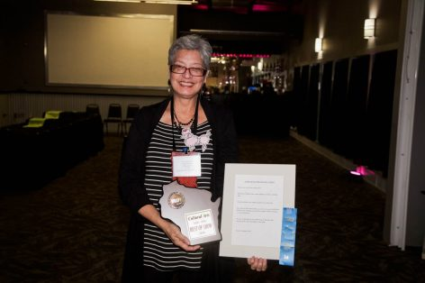 Norma Erman of Luther Manor won Best of Show for Prose & Short Story. She was nominated by Terri Barlett (shown here)