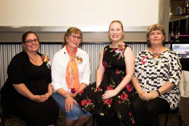 (L) Treasurer Ashley Nayes, Vice President Ingrid Constalie, President Colleen Knudson and Secretary Cindy Lotzer