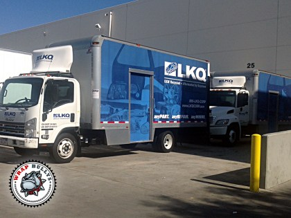 LKQ Distribution Box Truck Wrap