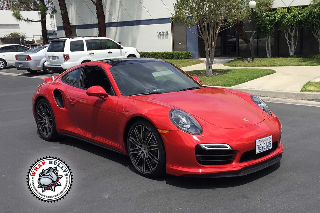 Porsche 911 Turbo Wrapped In 3m Gloss Dragon Red Car Wrap