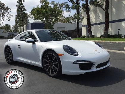 Porsche 911 Wrapped in 3M Satin White Car Wrap