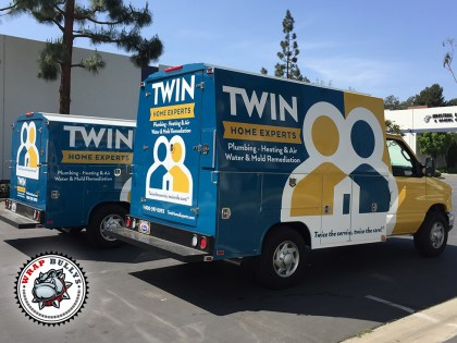 Twin Home Experts Plumbers Ford Utility Box Truck Wrap