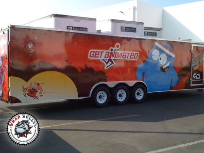 Cartoon Network Toy Hauler Trailer Wrap
