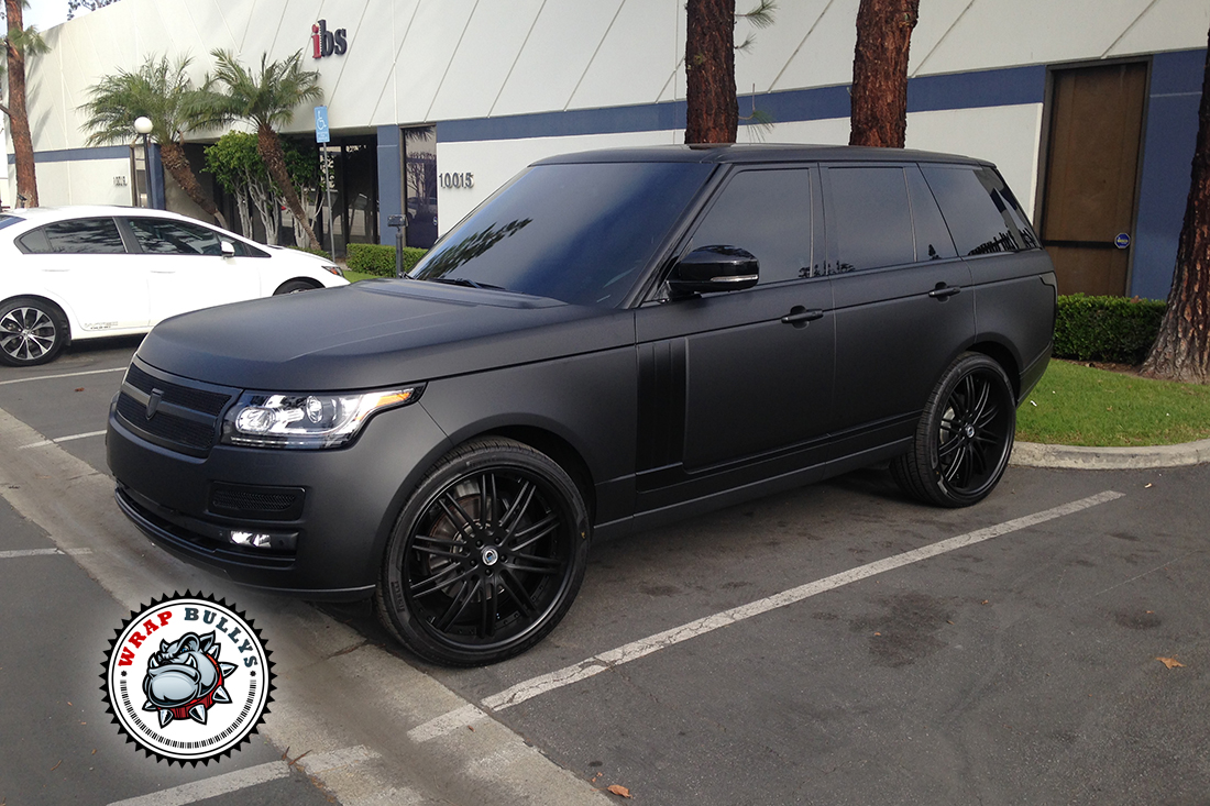 Range Rover Autobiography Wrapped in 3M Deep Matte Black Car Wrap
