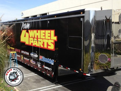 4 Wheel Parts Semi Trailer Wrap