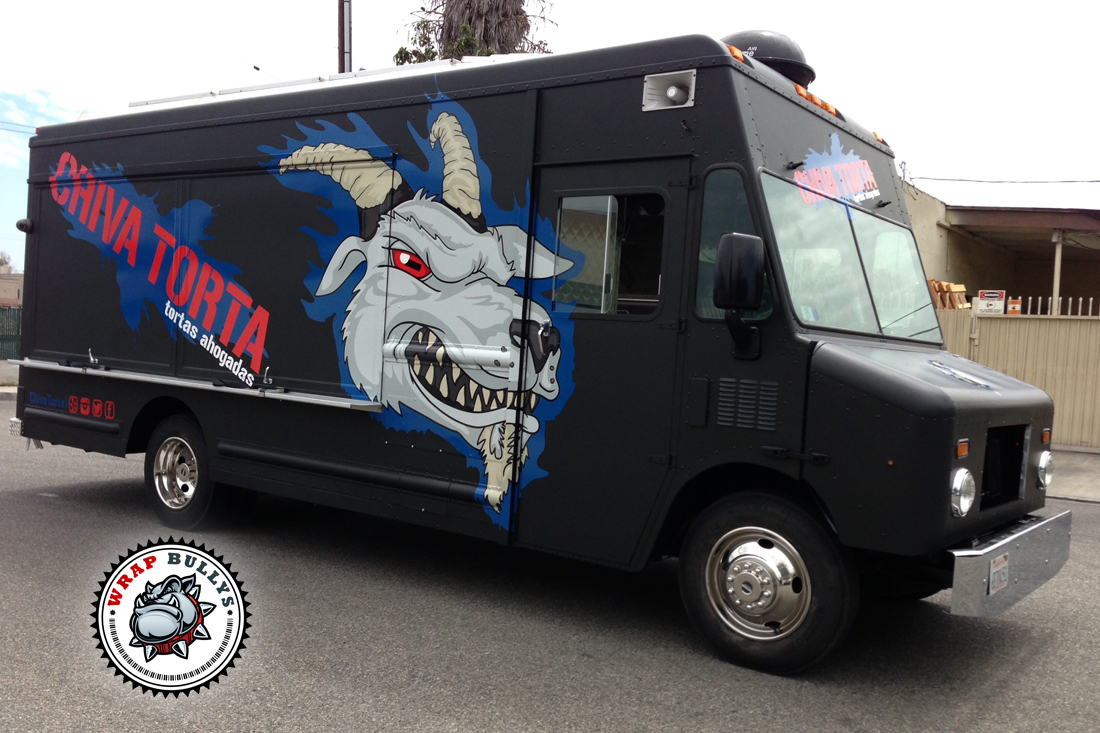 Custom food truck wraps. Let create the best looking food truck out there. Give us a call
