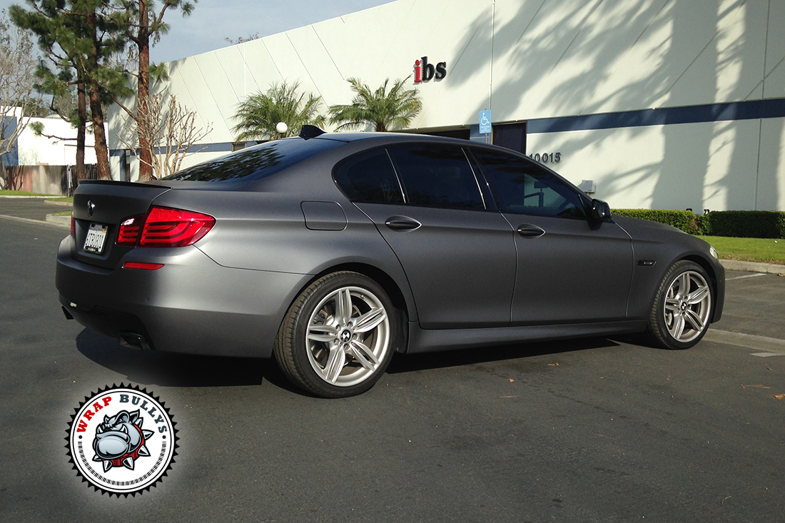 Custom matte dark gray wrap. 3M Dark gray bmw wrap. Call us for pricing