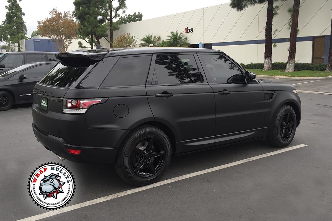 Range Rover Wrapped in 3M Deep Matte Black | Wrap Bullys