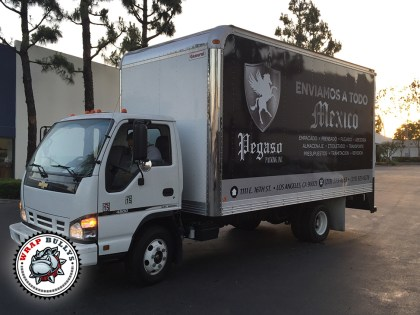 Pegaso Packing Isuzu Box Truck Wrap