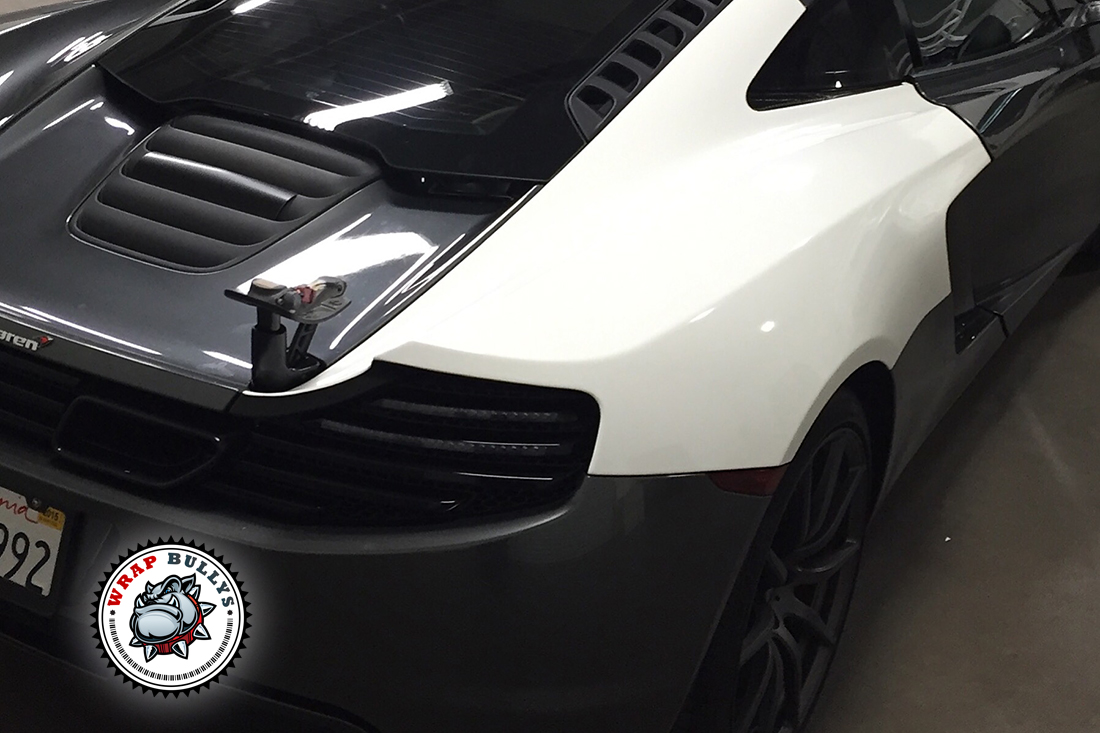 Gloss White Color Change Car Wrap. Call us today for pricing