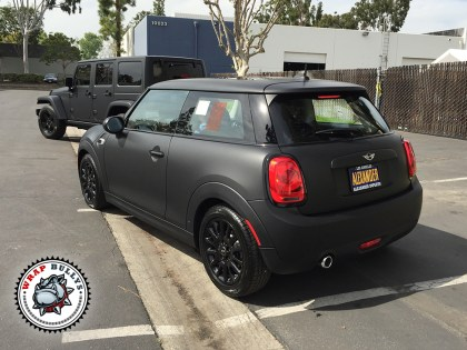 MINI Cooper Wrapped in 3M Matte Black
