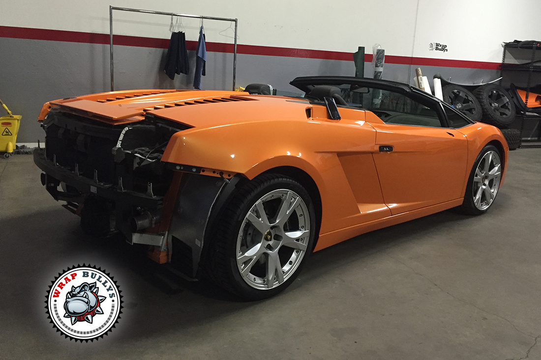 Matte Green Lamborghini Car Wrap Wrap Bullys