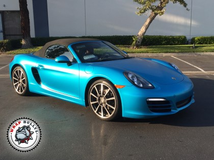 Porsche Boxster Wrapped in 3M Satin Ocean Shimmer Blue