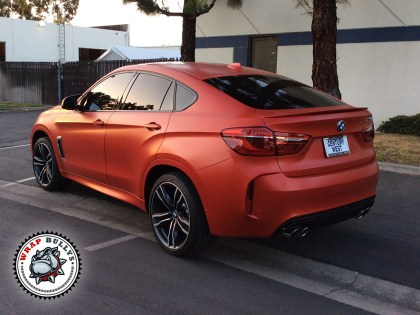BMW X6 M Wrapped in 3M Satin Red