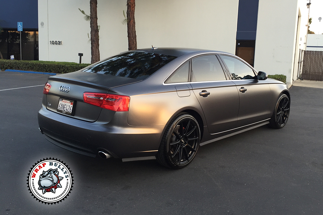 Audi A6 Wrapped In 3m Satin Dark Gray Wrap Bullys