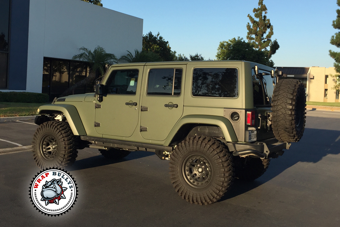Green Jeep Wrangler >> Jeep wrapped in 3M Matte Army Green | Wrap Bullys