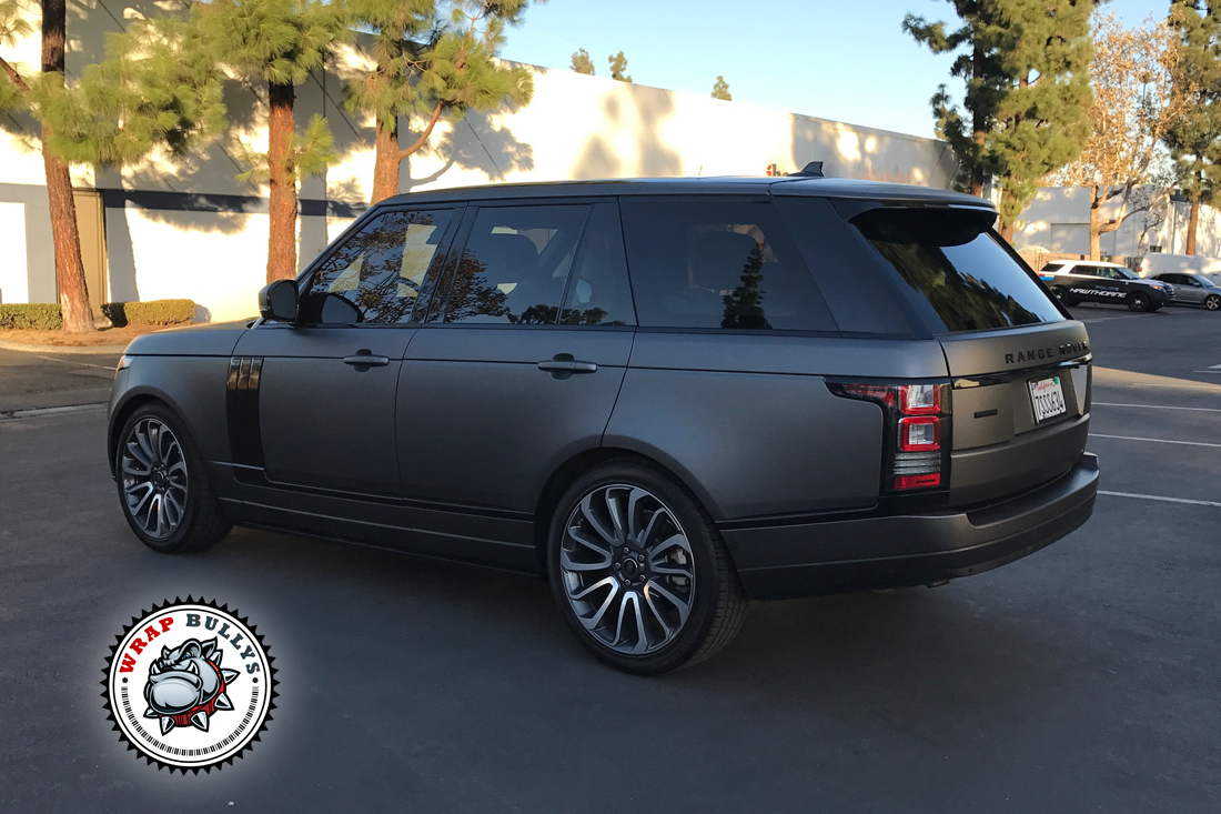 range rover wrapped in 3m matte gray wrap bullys. Black Bedroom Furniture Sets. Home Design Ideas