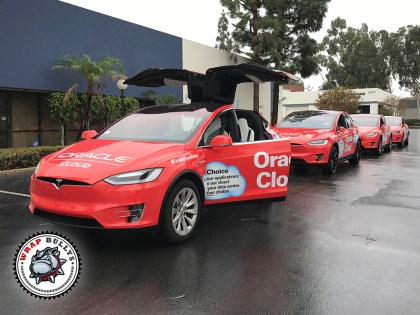 tesla model x vehicle wrap