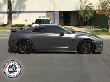 3M Satin Dark Gray Nissan GTR Car Wrap