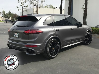 Porsche Cayenne Wrapped in 3m Satin Gray