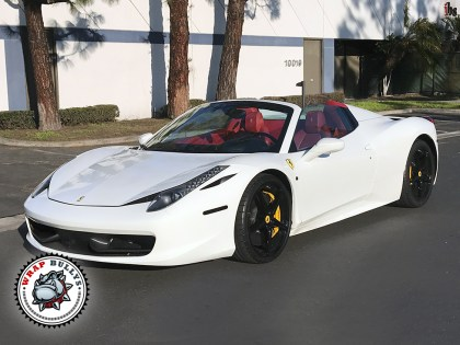 Ferrari 458 Wrapped in Suntek PPF-C Clear Bra Paint Protection