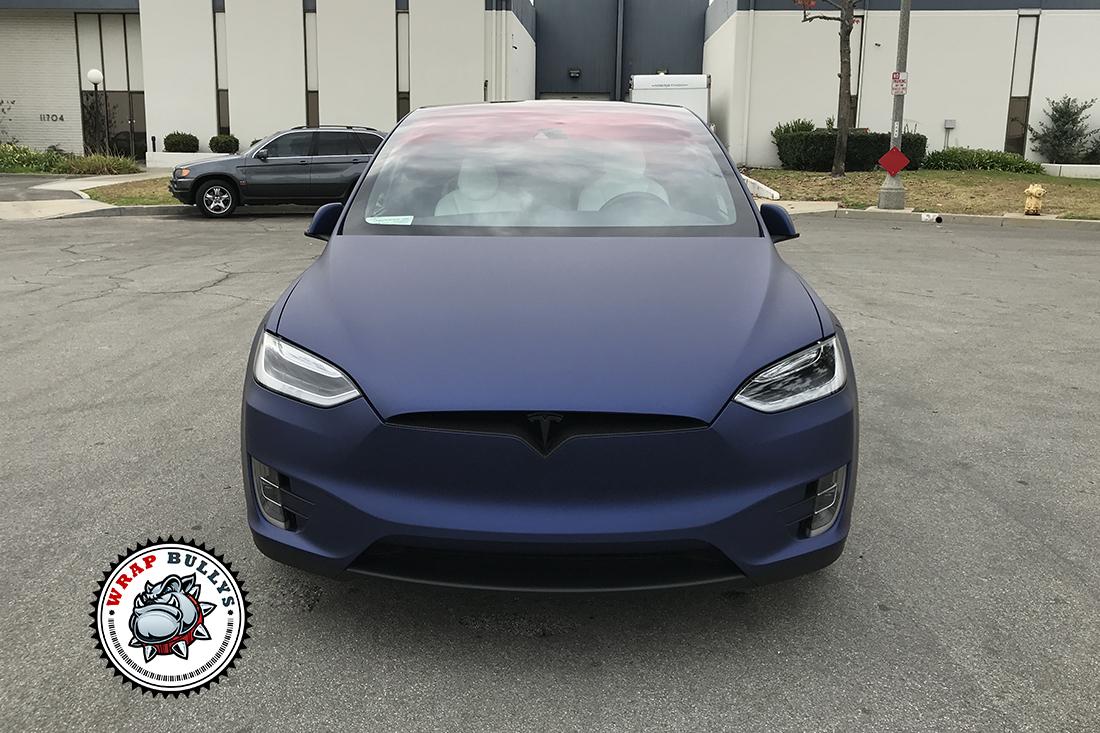 Avery Matte Metallic Night Blue | Tesla X Vehicle Wrap