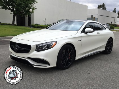 Satin Pearl White Benz S Coupe