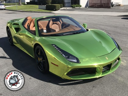 Ferrari 488 Wrapped Avery CUSTOM Chrome Highlighter