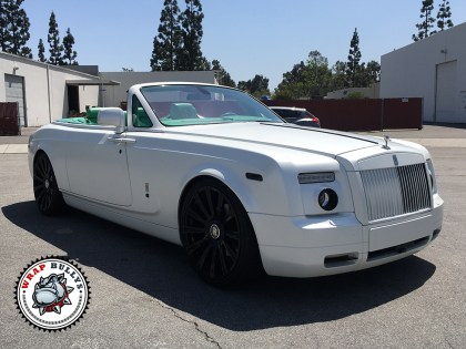Rolls Royce Wrapped in Avery Satin Pearl White