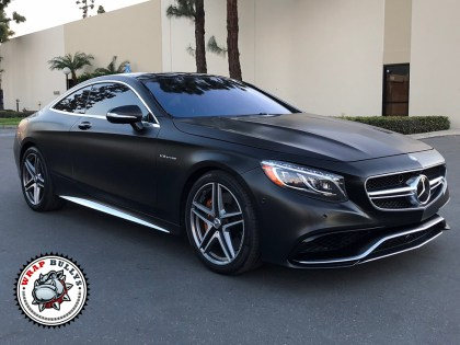 Mercedes S63 Wrapped in 3M Satin Black