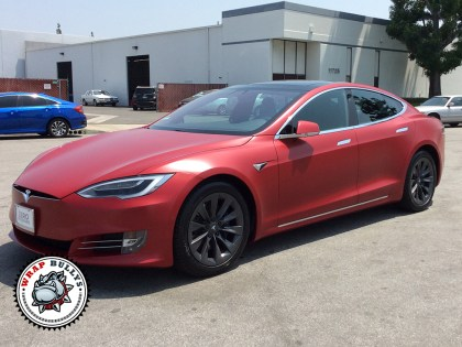 Tesla S Wrapped in Matte Clear Bra Paint Protection