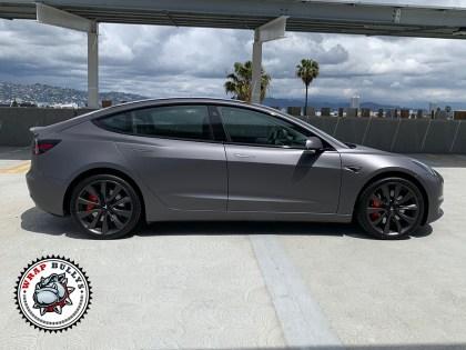 3M Matte Dark Gray Tesla Model 3